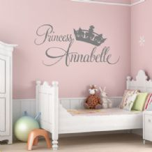 Personalised Princess Girls  ~ Wall sticker / decals 2
